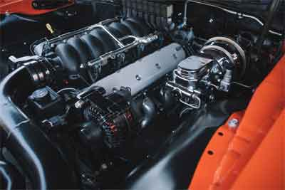 The emission, power and accessories of the car engine